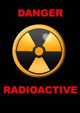 DANGER RADIOACTIVE Warning Sign [Plastic Laminated Paper Card]