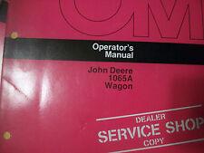 John Deere Operator'S Manual 1065A Wagon Issue G4