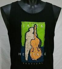 New Orleans Jazz Festival T Shirt Men L Vtg Music and Heritage Fest Tank Top Tee