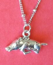 ❤ ARKANSAS RAZORBACK NECKLACE ❤ BIRTHDAY GIFT ❤ STAINLESS CHAIN ❤ GRADUATION ❤