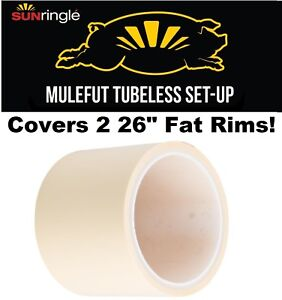 "Sun Ringle MULEFUT 80SL STR Tubeless Rim tape 78mm Wide for 26"" Fat Bike Rim"