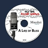 A Life of Bliss Old Time Radio Shows OTR Comedy 25 MP3 Audio Files on 1 Data DVD