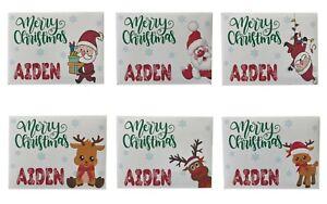 Christmas Money/Gift/Voucher Wallet Personalised Handmade Santa Rudolph