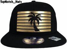 b65d5f822af Palm Tree Design Black And Gold Snap Back Hat Brand New Ships Now !