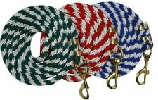 8' Poly Lead Rope w/ Brass Snap