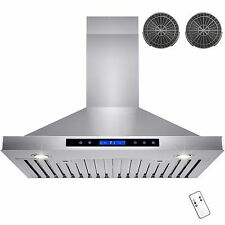 """30"""" GTC Europe Kitchen Wall Mount Stainless Steel Range Hood Vent Y-B02-75NCF"""