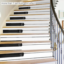 Piano Keys Stairs Tile Risers Mural Vinyl Decal Wallpaper Stickers Decor 6pcs