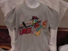 SUPER COOL Calgary Flames Youth Small Majestic T-Shirt, Perry Platipus NEW&NICE!