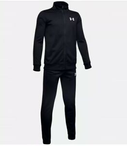 Under Armour Boys Tracksuit Knit Bottoms & Tracksuit Top Football Trouser Zip