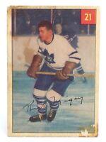 1954-55 Rudy Migay #21 Toronto Maple Leafs Centre Parkhurst Hockey Card G935