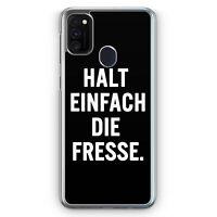 Halt Einfach Die Fresse Hülle für Samsung Galaxy M21 Motiv Design Spruch Cool...
