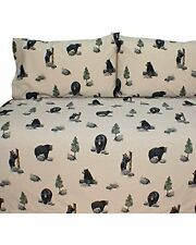Blue Ridge Trading Unisex Bears Queen Sheet Set Black One Size