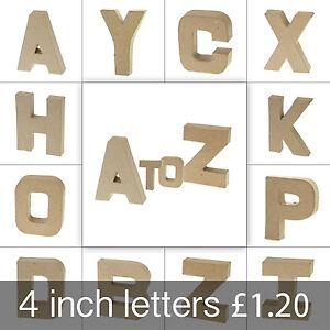 Papier Paper Mache Small Letters 10cm - Cardboard Craft