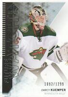 2013-14 SP Authentic Hockey #260 Darcy Kuemper RC /1299 Minnesota Wild