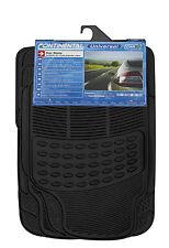Sumex Universal 4pcs resistente durable Fácil de limpiar de goma negra de automóvil alfombrillas