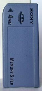 Sony original full size 4mb memory stick MSA-4A.