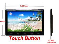 "Ultra-thin 7"" HD 1024*600 TFT LCD 2 Video Input DVD VCR Car Rear View Monitor"
