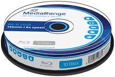20 Mediarange Rohlinge Blu-ray BD-R 25GB 6x Spindel