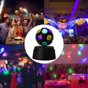 Disco Light Ball Crystal Party Rotating LED Magic Stage Club DJ Lamp Battery