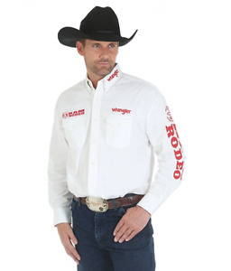 NWT Wrangler Dodge RAM Logo Rodeo Western Embroidered Long Sleeve (LT) MP2142W