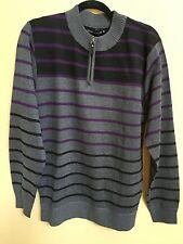Loose Thread Men's Short Zip Sweater Size Medium NWT