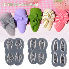 Powder 3D Candy Bow Carved Resin Mould Nail Decoration Nail Art Silicone Molds