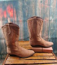 Ladies Dingo Brown Leather Cowgirl Boots Sz:6.5 M