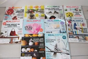 Lot of 10 Magazines Back Real Simple Home Garden Organizing Homemaking Home Life