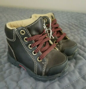 Toddler, Boys, Faded Glory, Boots, Casual, Dark Brown, Laces, Size 3