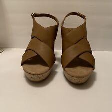 Womens Montego Bay Wedge Sandals Color Cognac Size 12 New.
