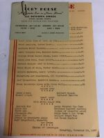 1947 Toby House Restaurant Menu Boston Copley SQ. Boylston St.