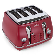 NEW DeLonghi Icona Elements Four-Slice Toaster CTOE4003 Red