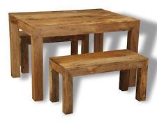 DAKOTA FURNITURE MANGO DINING TABLE & 2 BENCHES(47L&261L)