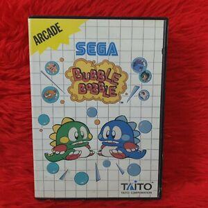 Sega Master System BUBBLE BOBBLE *z Boxed With Manual PAL UK Version REGION FREE