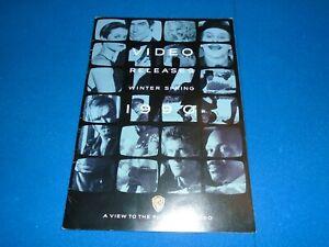 WARNER HOME VIDEO - 1990 CATALOGUE - RENTAL - RARE ALTERNATE SLEEVES - BOND 007