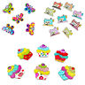 KE_ 50 Pcs Cake Butterfly Cat Buttons Sewing Scrapbooking Crafts DIY 2 Holes N