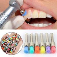100pcs Desechables cepillo profilaxis dental cepillo de nylon tipo plano pulido