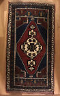 Antique Handmade Asian Small Rug hand knotted woven Mat