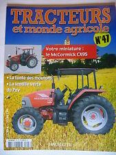 FASCICULE 47 TRACTEURS ET MONDE AGRICOLE McCORMICK CX95 BETAILLERE CIJ