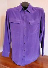 Women's Equipment 100% Silk Blouse, Purple, Size XS
