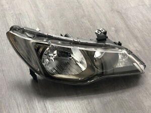 JDM Style Headlights fit for 2006 2007 2008 2009 2010 2011 Acura CSX Smoke color