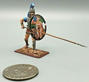 HAND PAINTED Lead Roman Greek Warrior 54mm Toy Soldier Amber Russia NEAR MINT