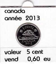 canada 5 cent  2013   voir description