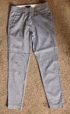 H & M Trousers. US 2 =UK 6. Tailored, Diamond Pattern, Skinny Slim Fit.