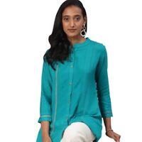Tunic Indian Women Short Embroidery Rayon Kurti Kurta Top Shirt Dress