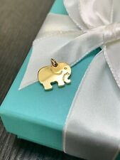 Tiffany & Co. 18k Yellow Gold Elephant Never Forgets Charm Pendant- Retired