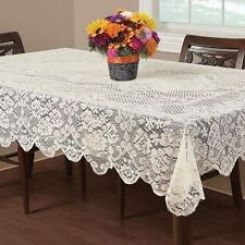 Home Lace Tablecloth Table Cloth Polyester Floral Cover Kitchen Dining Decor