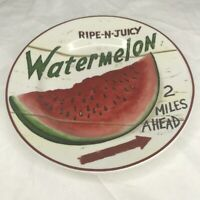 """Home Trends Farm Fresh Watermelon Plate - 8"""" Kitchenware Decor Stoneware"""