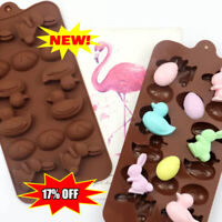Silicone Easter Eggs Bunny Lollipop Chocolate Mould Ice Cube Jelly LollyHot NEW