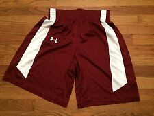 New Under Armour Women's S Temple Owls Basketball Game Shorts Maroon White